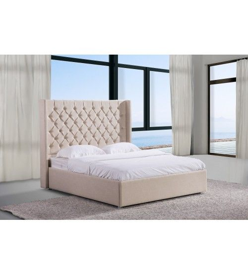 sale discount on all prestige fabric upholstered bed frame our stylish modern bed frame is made out of solid mdf high density chipboard combining with