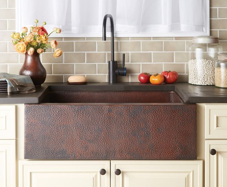 Copper Farmhouse Sink by Native Trails Pinnacle in Antique Finish