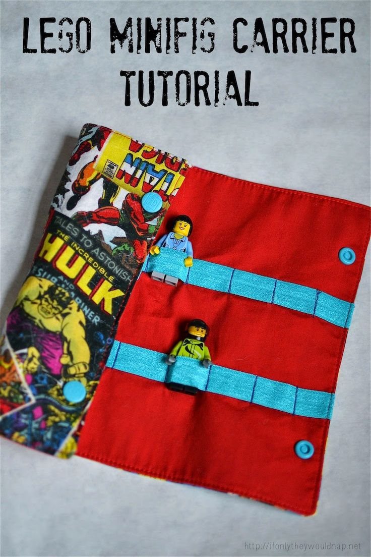 Lego Minifigure Carrier – Sewing Tutorial