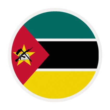 #Mozambique Flag Edible Frosting Rounds - #Chocolates #Treats #chocolate