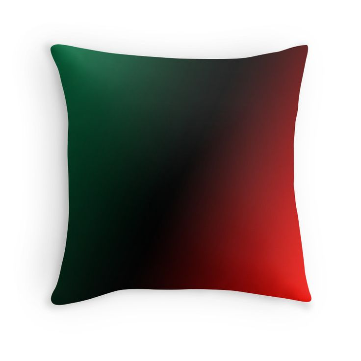 Beautiful Cushions/The Block Collection/TripleThreat Gradient Red Green Black