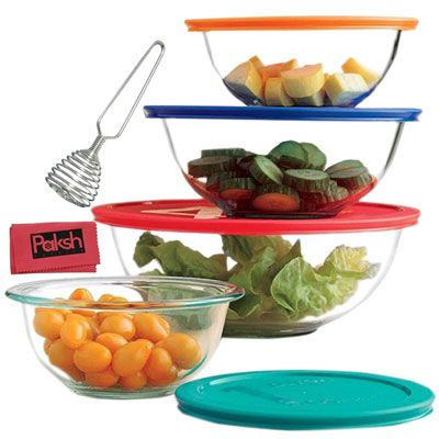8. Paksh Novelty 9-Piece Food Storage Containers