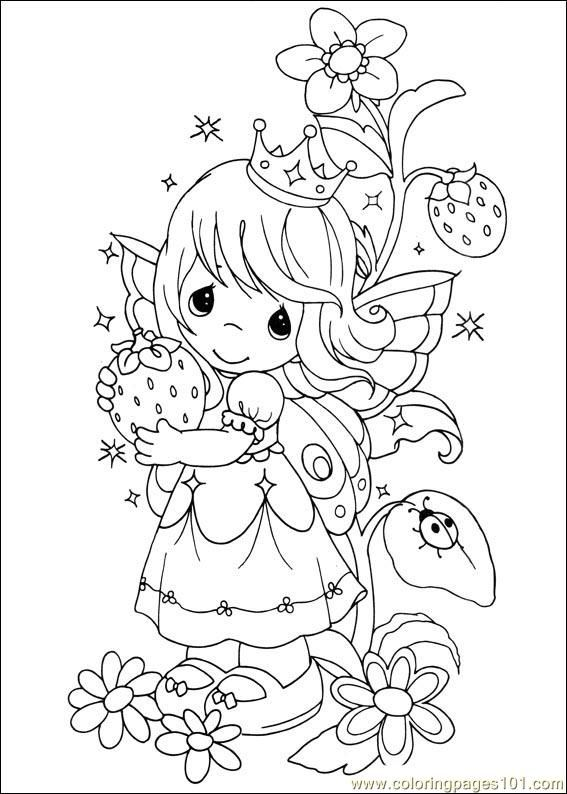 Coloring Pages Precious Moments 01 (Cartoons > Precious moments) - free printable coloring page online