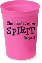 Our fun and afforadble pink cheerleader spirit cup is a great gift for every girl on your squad.