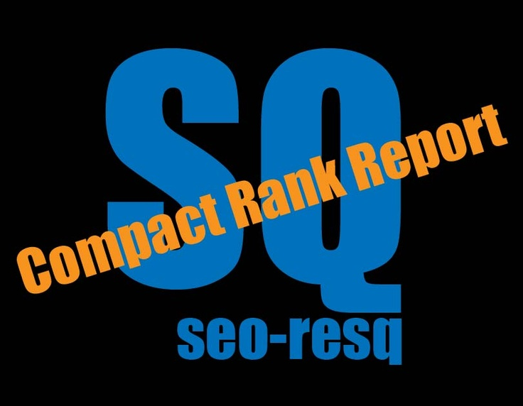 Compact SEO Rank Report by seo-resq.