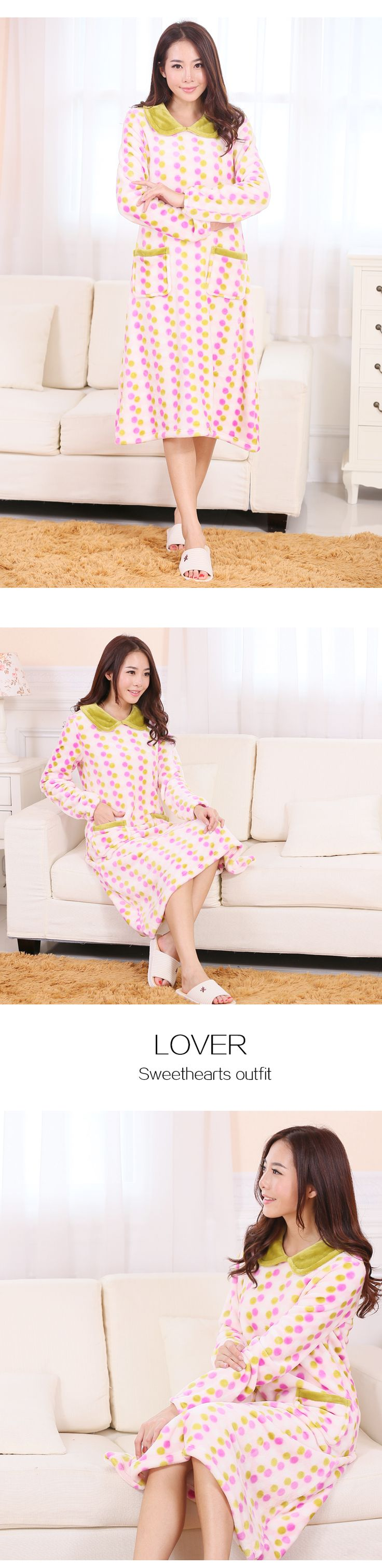 Sexy Nightgown Pink Pijama seda PlusSize Women Sleepwear Casual Nightdress Winter camisolas de dormir ropa de mujer Freeshipping-inNightgowns & Sleepshirts from Women's Clothing & Accessories on Aliexpress.com | Alibaba Group