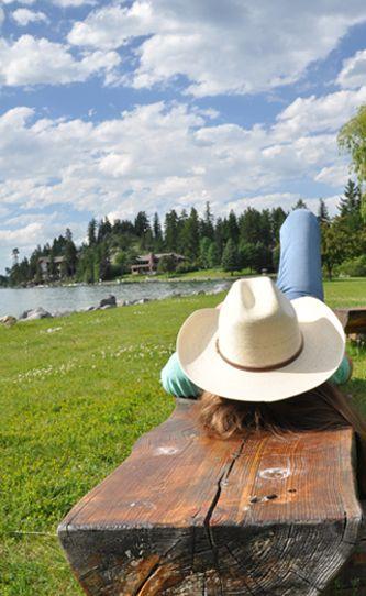 An afternoon snooze! Flathead Lake Lodge Montana