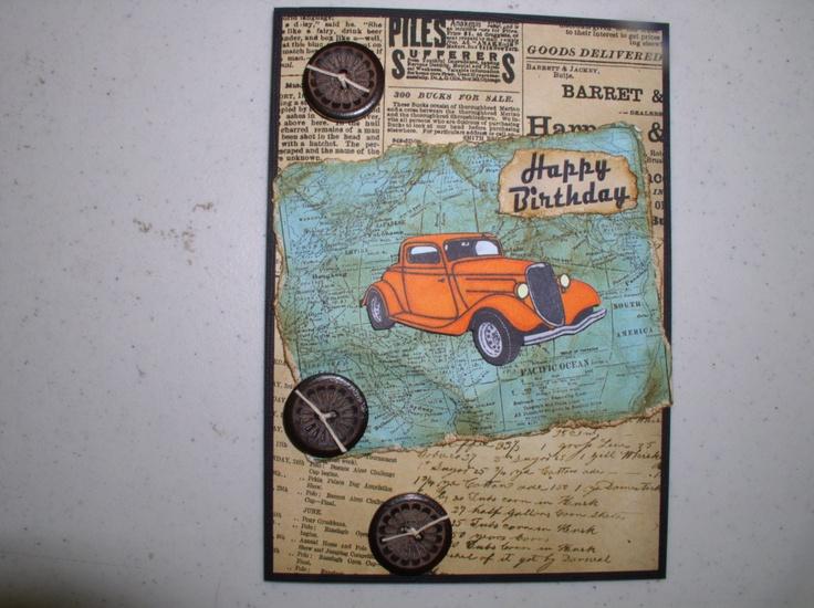Birthday Cards Delivered ~ Best vintage car cards images antique cars