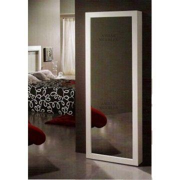 Zapatero con espejo #Ambar #Muebles #Deco #Interiorismo | http://www.ambar-muebles.com/zapatero-vestidor-con-espejo.html