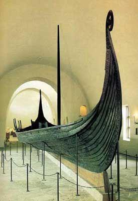 Nave vichinga presso il museo di Oslo