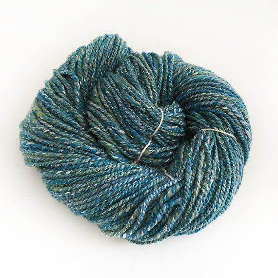 Handspun Merino and Tussah Silk Yarn for Knitting or by Artyfibres