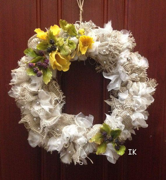 Spring wreath от FantasticHome на Etsy