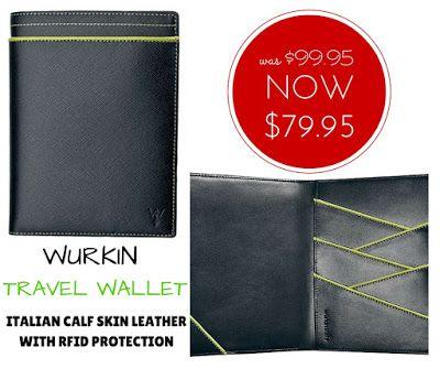 WEEKLY SPECIAL: Wurkin Stiffs RFID Leather Travel Wallet NOW $79.95 (was $99.95) #specials #WurkinStiffs #giftsformen