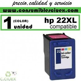 CARTUCHO DE TINTA HP 22XL REMANUFACTURADO / COMPATIBLE http://www.consumiblesciuex.com/hp-22-xl-compatible/672-cartucho-de-tinta-hp-22xl-remanufacturado-compatible.html