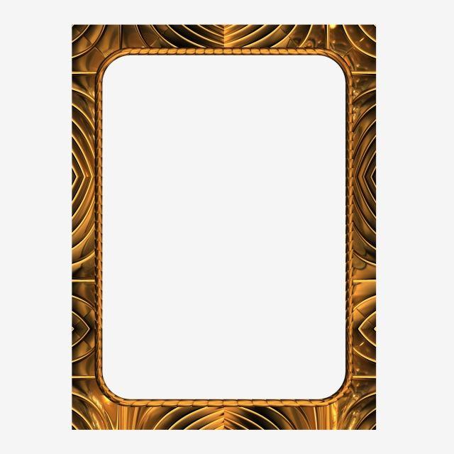 Metallic Gold Frame Metallic Gold Frame Png Transparent Clipart