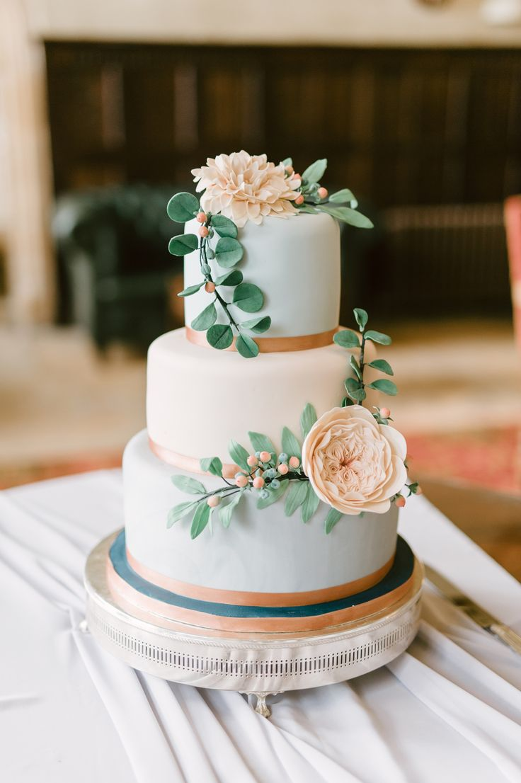 Wedding Cake - Anna Campbell Bride Elegant Wedding With Pastel Colour Scheme Stationery by Paperknots Styling by The Wedding Stylist Image by Emma Pilkington