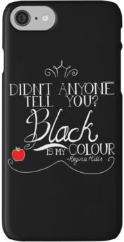 Black is my colour (white font, English spelling) iPhone 7 Cases