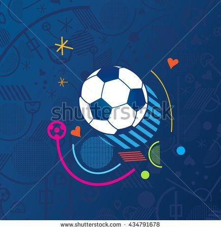 European championship 2016. France. 2016 Soccer Abstract blue background soccer pattern 2016 Football. Vector Illustration. Europe Champion League award, Soccer Winner, WIN, Finale Game Wallpaper 2017
