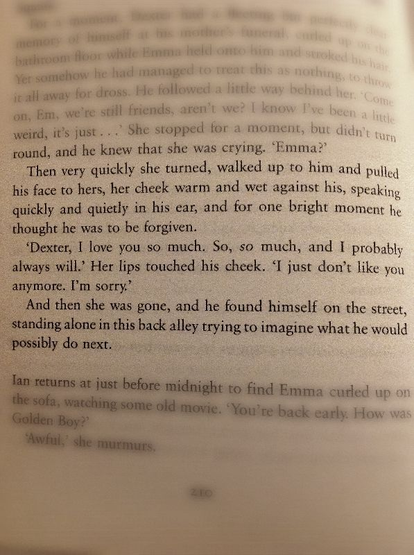 From One Day by David Nicholls