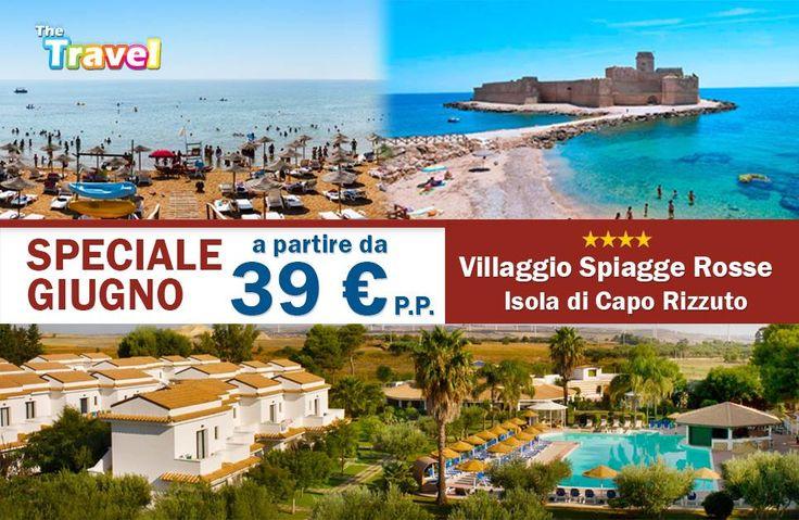 SPECIALE GIUGNO a partire da 39 € per persona in Camera Doppia per le settimane 11/18giugno - 18/25giugno - 25giugno/2luglio 3°e 4° letto GRATIS per BAMBINI fino a 14 anni non compiuti Direttamente sul mare 🐟 Servizio Spiaggia 🏖 Animazione 🤡 Trattamento di Pensione Completa con acqua e vino ai pasti 🌐http://www.calabriatravels.eu/ 📧info@thetravel.it 📞 0882.1995820 📱346.0296648 Chiedi un preventivo gratuito ➡️bit.ly/2p2arHU  #caporizzuto #spiaggerosse #calabriatravels #spiaggia…