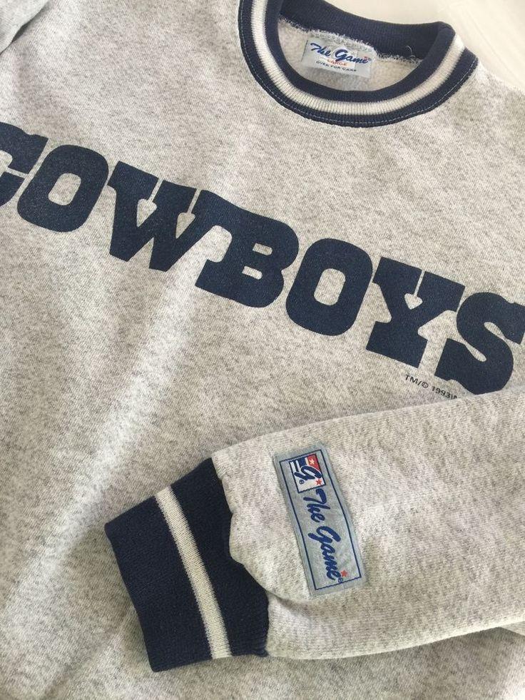 Vintage Dallas Cowboys Ringer Sweatshirt Mens Sz Large The Game NFL 90s | eBay