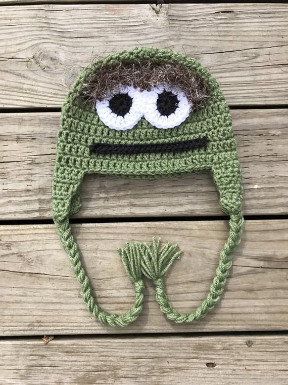 f04026c929e Your little Sesame Street loving child will love this Oscar the Grouch  inspired hat. Its super soft and warm. Its perfect for pictures or to wear  on a ...