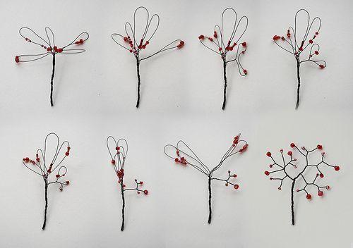 Miniature tree tutorial: Diy'S, Wire Flower, Fairies Gardens, Trees Tutorials, Miniatures Trees, Wire Art, Wire Trees, Minis Trees, Beads Trees