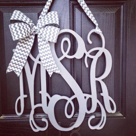 Monogram idea for front door!