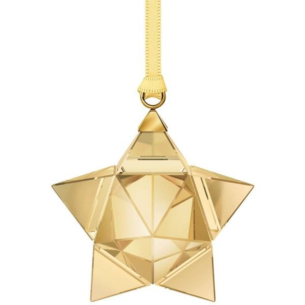 Swarovski Small 3D Star Ornament ($51) ❤ liked on Polyvore featuring home, home decor, holiday decorations, star home decor, swarovski home decor, star ornaments and swarovski ornaments