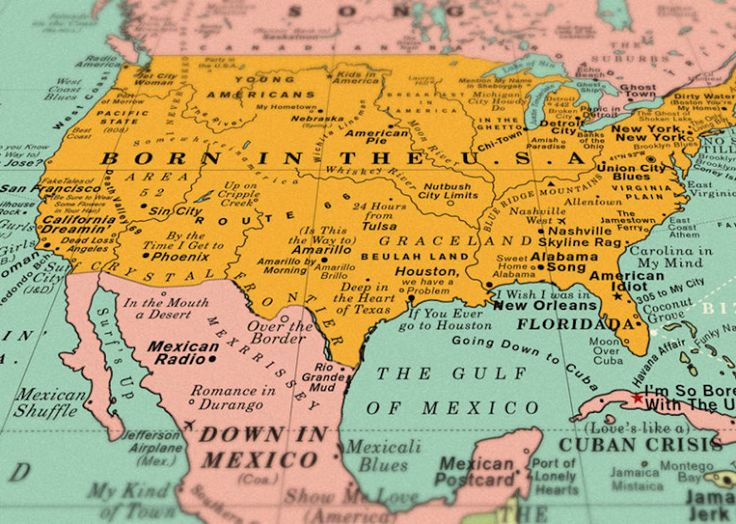 Best United States Of America Images On Pinterest United - Map usa and mexico