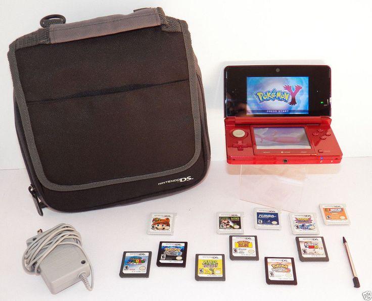 Bundle Lot Nintendo DS 3D Game Console w/12 Games & Case Pokemon, Mario, Sonic #Nintendo3ds #pokemon