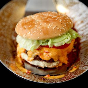 Pimento Cheese Burger - I had one of these in South Carolina one time and I am STILL dreaming about it.  YUMO!