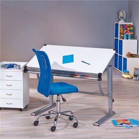 Schreibtisch Speedy Melamin Platte weiss