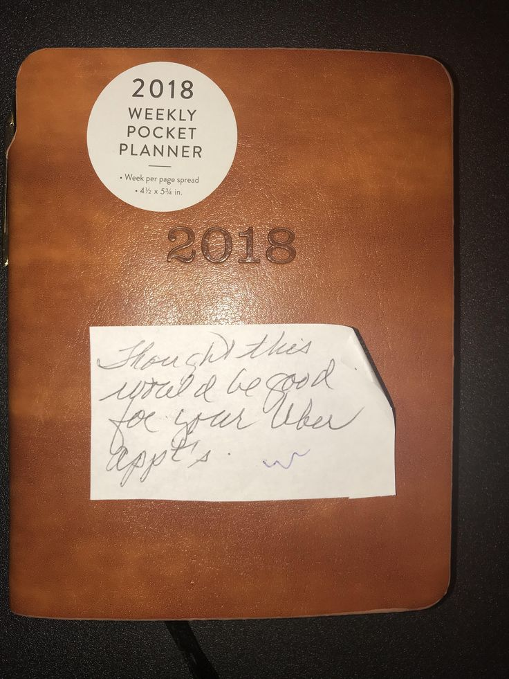 My grandma knows Im an Uber driver but doesnt know how it works. She got me this planner and wrote thought this would be good for your Uber appts Shes beyond precious.