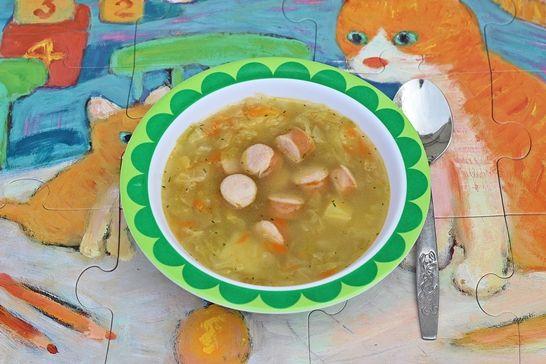 Zupa dla dzieci – kapuśniaczek z paróweczką