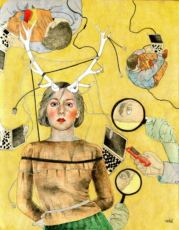Illustration for WPROST magazine, 2011, by AROBAL