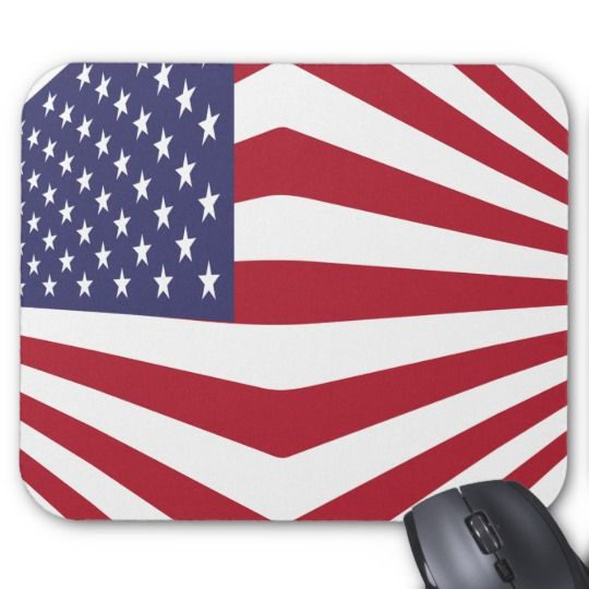 #zazzle #Usa #Flag #Mousepad #office #home #travel #gift #giftidea #star #stars #red #blue #white