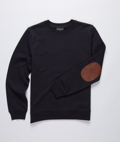 for some reason I really want you to own a sweater with elbow patches, so that I can steal and wear it and say that it's yours