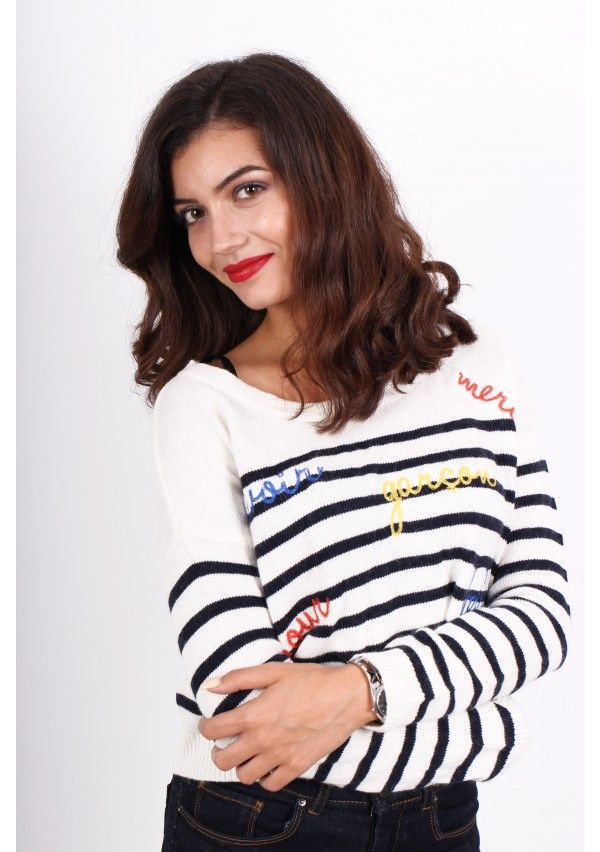 Pulover Ex - Asos: http://femina.ro/femei/imbracaminte/bluze/pulover-alb-cu-dungi-bleumarin.html