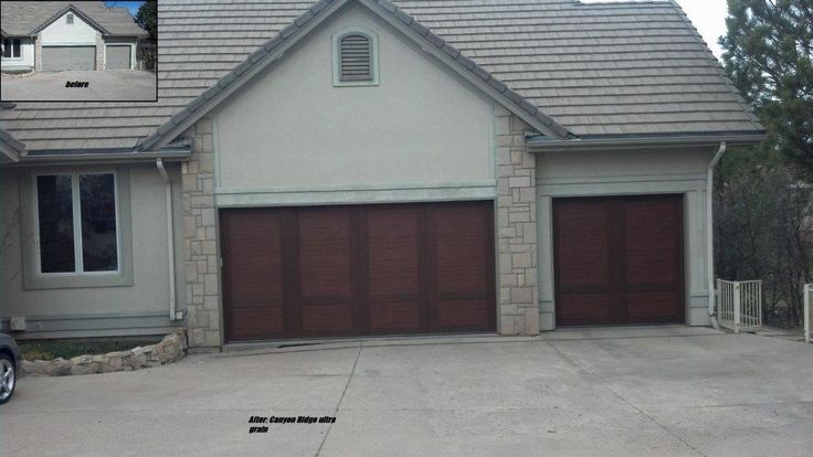 91 best images about clopay faux wood garage doors on for Composite garage doors that look like wood