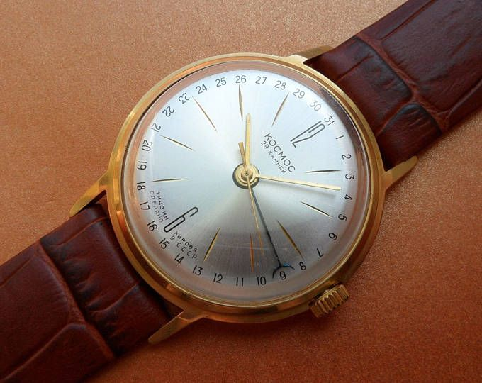 Ювелирные изделия 60-х годов редкие советские ретро наручные часы для мужчин Винтаж СССР механические наручные часы с Кожаный ремешок подарок для него смотреть groomsmen подарок часы