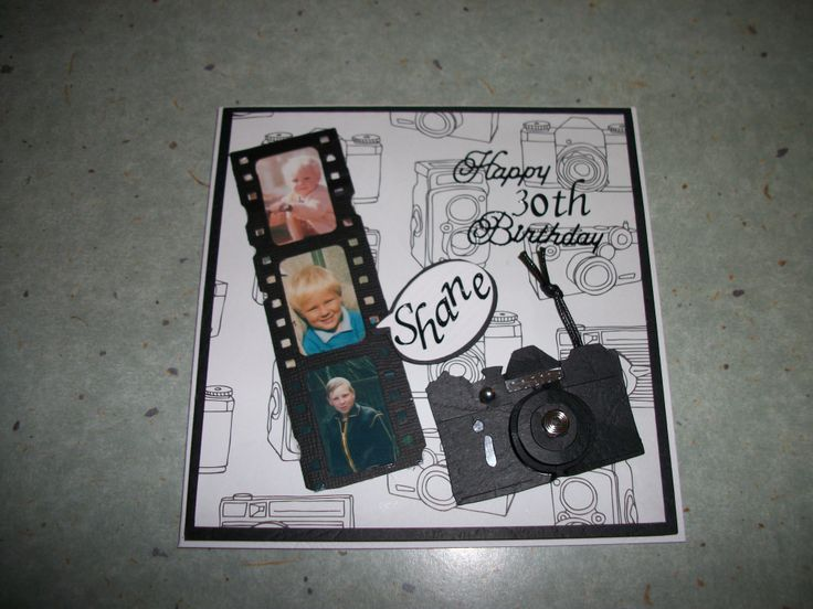 Birthday card Camera & film strip