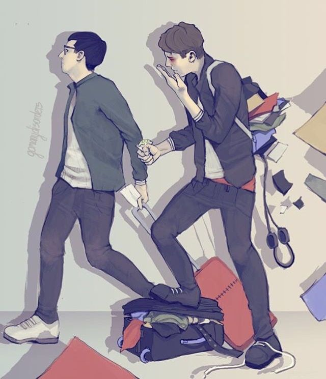 """Aw I love how Dan is there like, """"Damn dammit crap frick eyeball,"""" and Phil's moving along like, """"come on peasant"""""""
