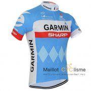 maillot Cyclisme Cannondale bleu 2015 Manche Courte