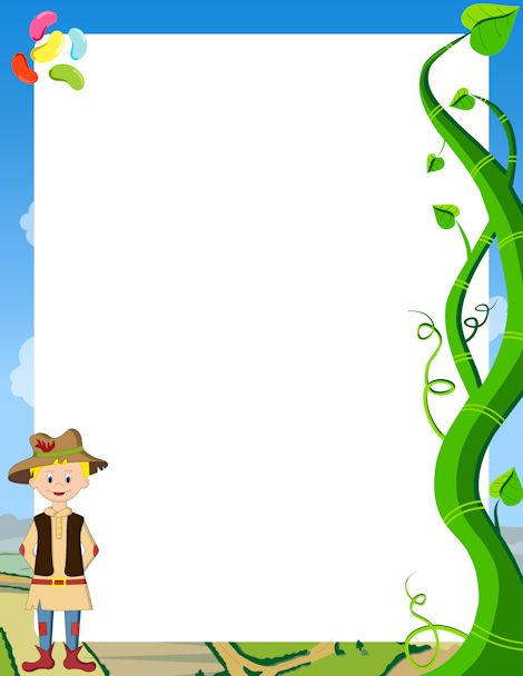 Printable Jack and the Beanstalk border. Free GIF, JPG, PDF, and PNG downloads at http://pageborders.org/download/jack-and-the-beanstalk-border/. EPS and AI versions are also available.
