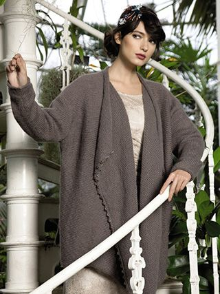WATERFALL CARDIGAN from ROWAN Swarovski Evening (ZB188).The Evening Collection showcases eleven elegant designs which are the essence of glamour | English Yarns