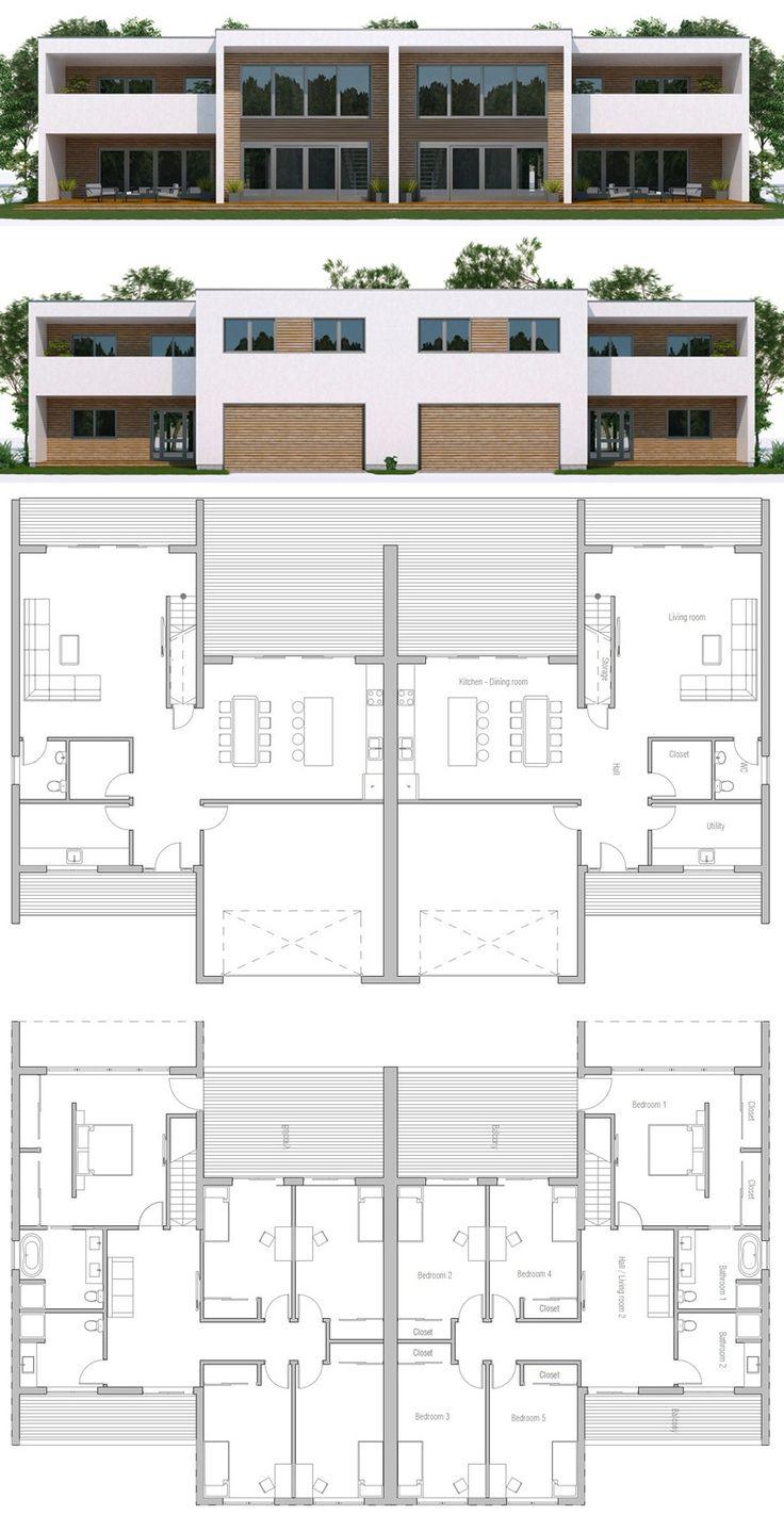 Duplex House Plan Plan I Fremtid Pinterest
