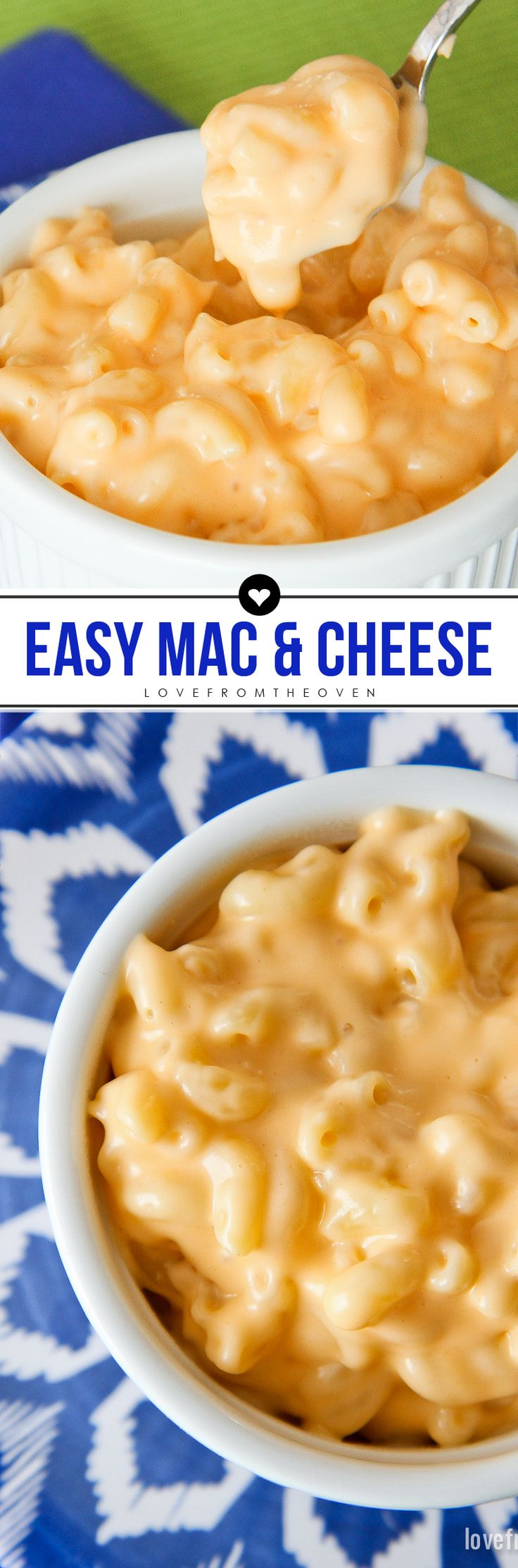 This easy macaroni recipe is creamy and cheesy, can be made in one pot and takes only a few more minutes than making a box mix.  My kids love this mac and cheese recipe!