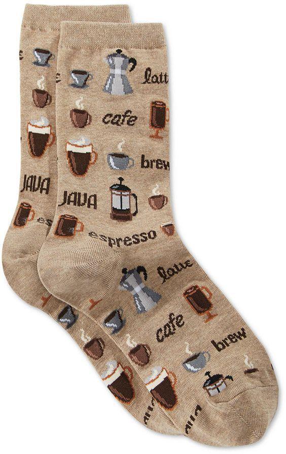 a21e8cd3a787 Hot Sox Women Coffee Crew Socks in 2019 | Christmas List | Socks ...