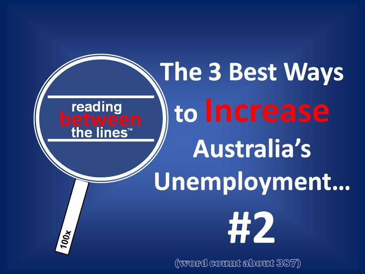 The 3 Best Ways to INCREASE Australian Unemployment #2 http://neilfindlay.com/2014/02/the-high-cost-of-being-cool-reading-between-the-lines/